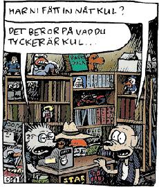 """Staffars Serier (med  och  bakom disken) ur """""""" av . ©Kellerman."""